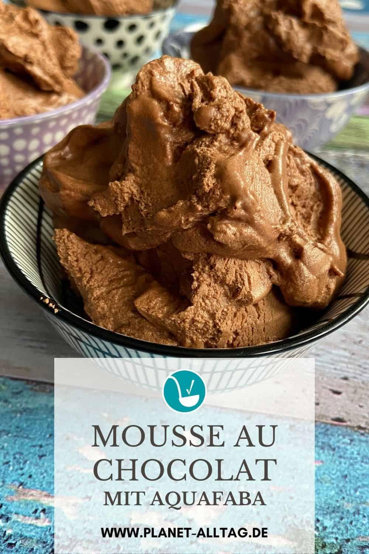 Mousse au chocolat mit Aquafaba