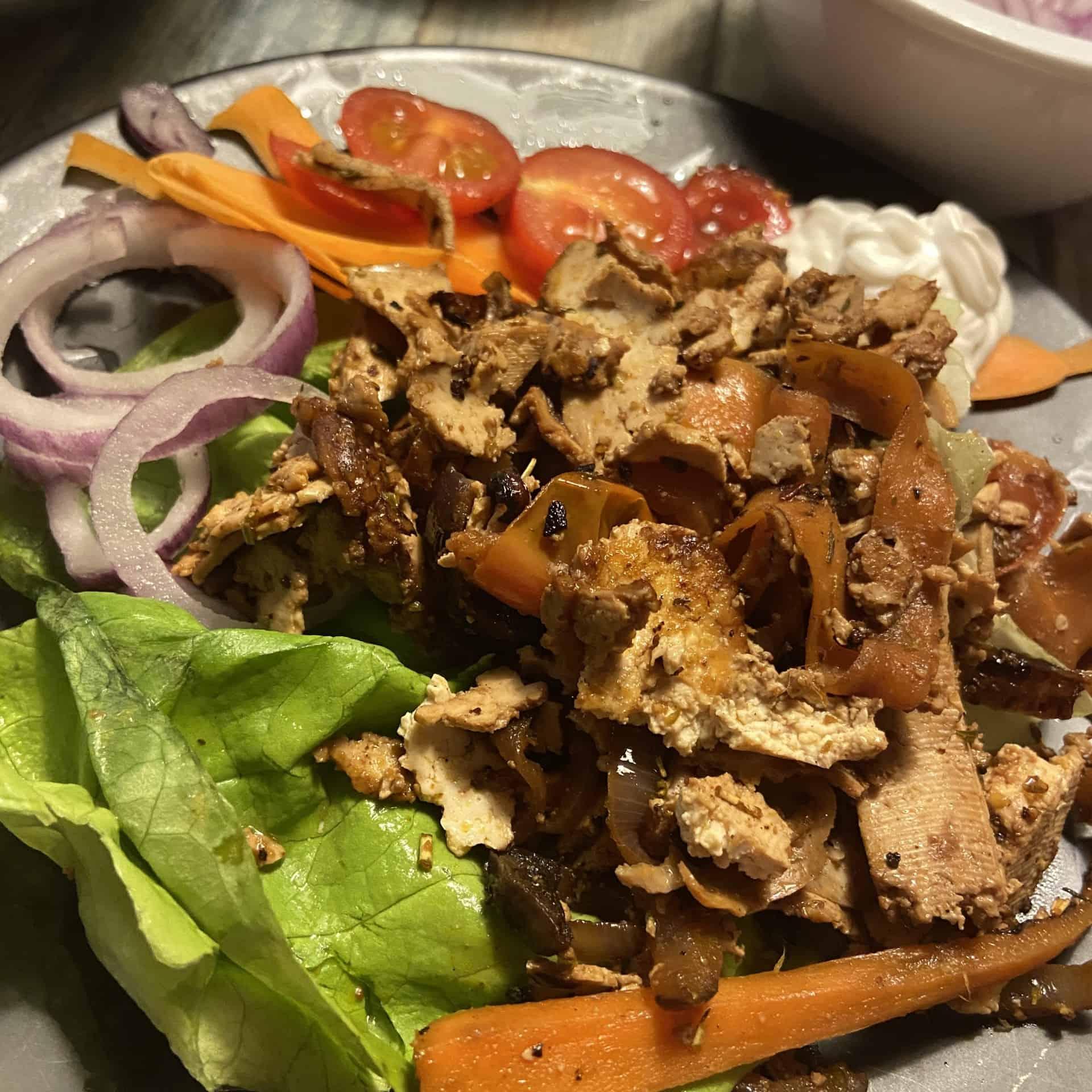 veganer Döner aus Tofu