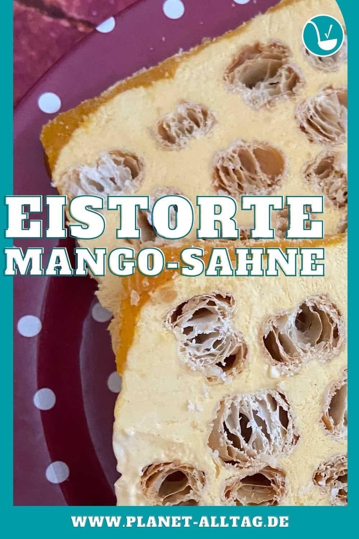 vegane Mango-Eistorte